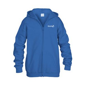 vovem 90 hooded zipp kids royal blauw
